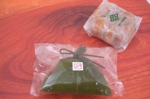 2008.5.28 くまもとが誇る四ツ目饅頭の「ふもちまん笹衣」