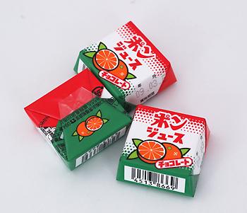 2008.5.24 ポンジュース チロルチョコレート 愛媛名産ですね