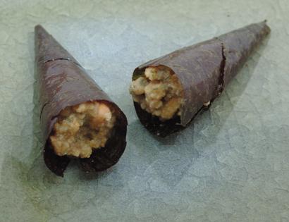 2009.3.25 銀座あけぼの の 手巻き納豆 これは美味しい