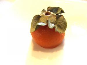 2009.12.2 築地ちとせ「冷やし柿」。かわいい季節菓子