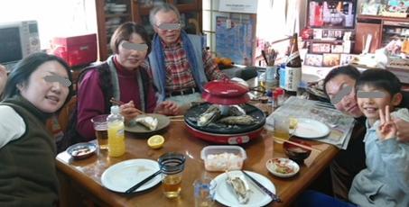 牡蠣と家族20180101.JPG