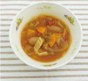 まめむぎトマトスープ