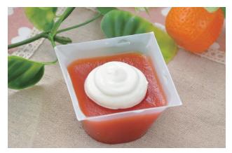 オスカートマトとオレンジのゼリー