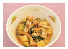 たっぷり野菜のキムチ煮