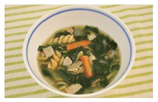 つるつるパスタスープ
